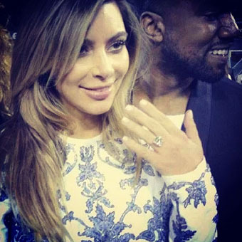 Engagement Details! Kanye's Crazy Romantic Proposal, Kim K's Gigantic Rock