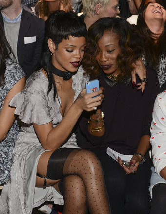 rihanna melissa 340x440 Gossip Girl: Rihannas Hot Bikini Pics and Screaming Match with BFF