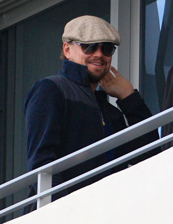 Leonardo DiCaprio was spotted on a hotel balcony in Miami.