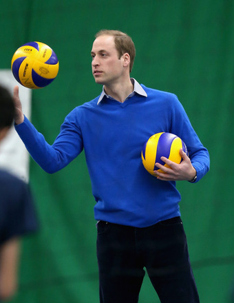 Prince William stopped by to play some volleyball for a Coachcore project at Westway Sports Centre in London.