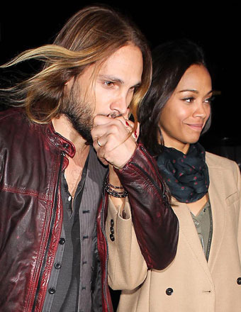 Marco Perego and wife Zoe Saldana attended the Beyoncé concert in L.A. on Wednesday.