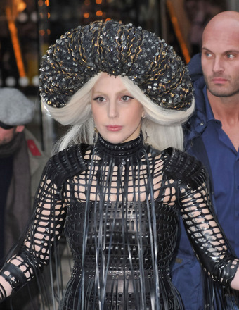 Lady Gaga was spotted in another outrageous outfit in London.
