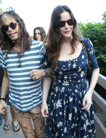 Steven Tyler spent time with daughters Liv (pictured), Mia and Chelsea in Miami.