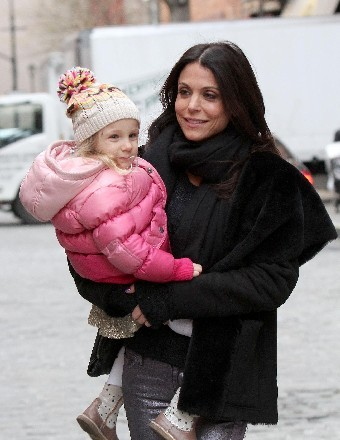 Bethenny Frankel picked up daughter Bryn from school in Manhattan on Wednesday.