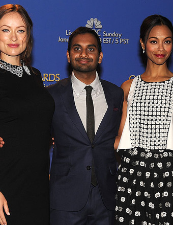Olivia Wilde, Aziz Ansari and Zoe Saldana announced the 2014 Golden Globe nominations.
