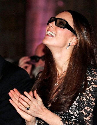 Kate Middleton was seeing in 3D on Wednesday at the Natural History Museum Alive screening in London.