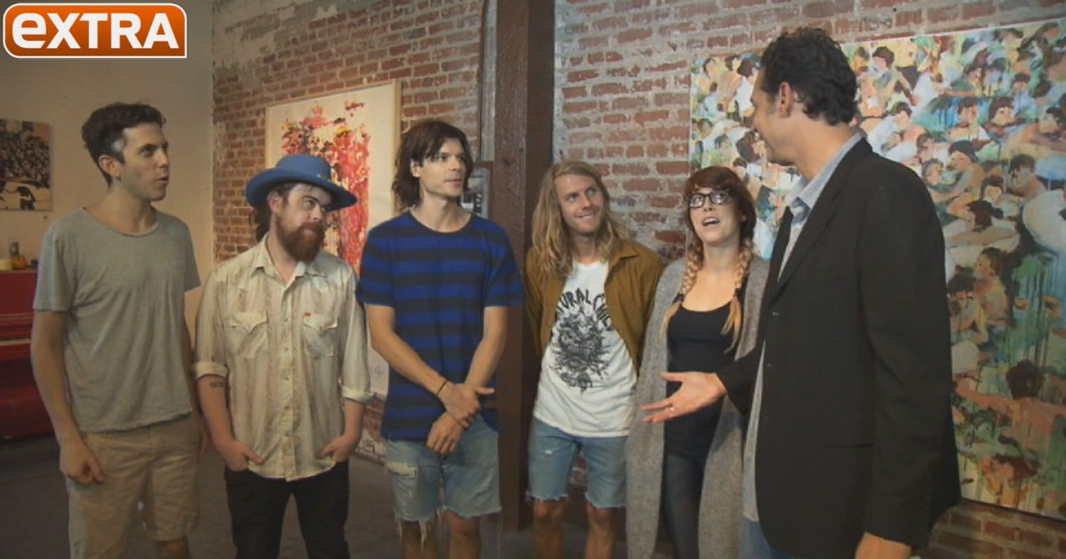 rock band grouplove shows off their art starts spreading