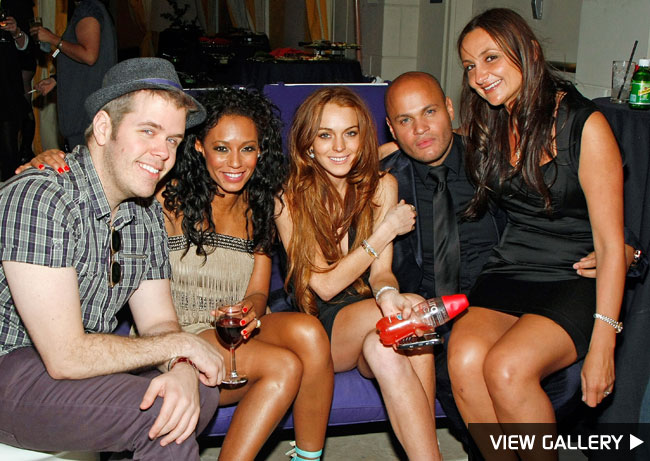 lindsay lohan perez hilton melanie brown opening night peepshow las vegas