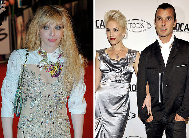gavin rossdale, gwen stefani and courtney love