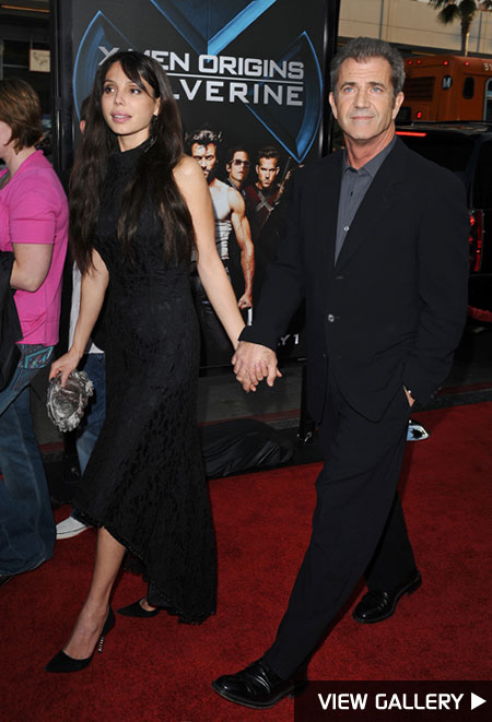 Mel Gibson and girlfriend Oksana Grigorieva