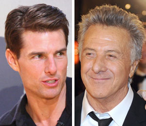 Tom Cruise was afraid to meet future co-star Dustin Hoffman