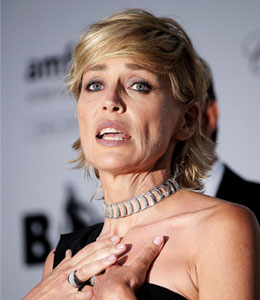 Sharon Stone is eating right and exercising