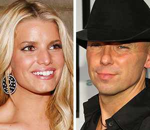 jessica simpson flirting with kenny chesney?