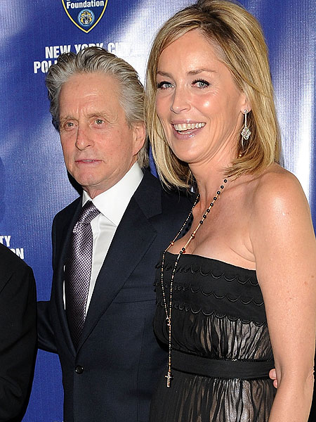 Michael Douglas and Sharon Stone