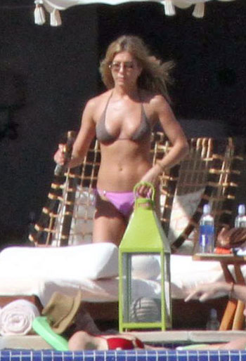 Jennifer Aniston in a bikini in Mexico