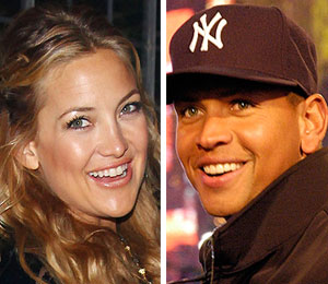 kate hudson alex rodriguez yankee good luck charm