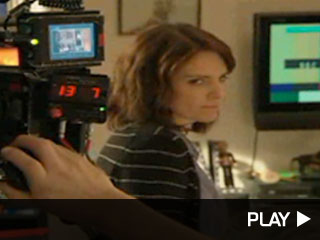 Tina Fey behind the scenes