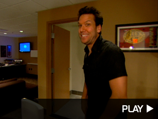 Dane Cook backstage