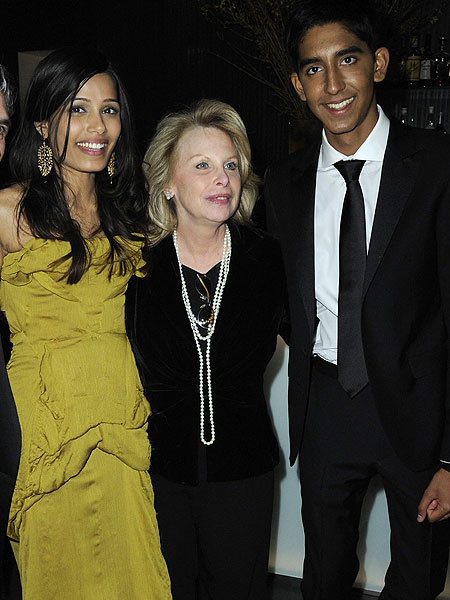 ronni chasen, freida pinto and dev patel