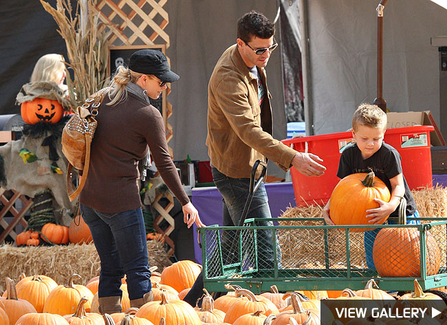david boreanaz pumpkin patch halloween
