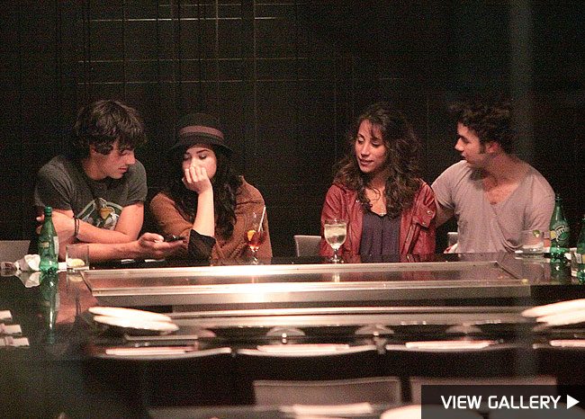 jonas brothers double date demi lovato