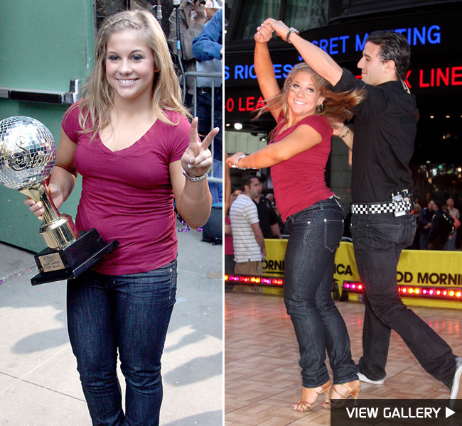 Dancing with the Stars winners Mark Ballas and Shawn Johnson