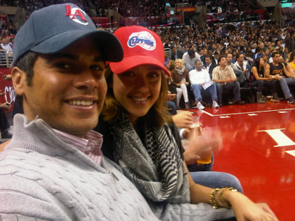 jessica alba and cash warren clippers game